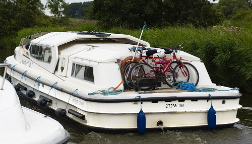 boat with bikes on board